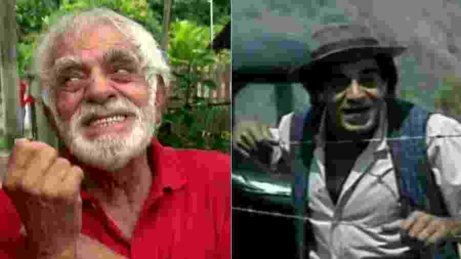 """Francisco Nagem em 2016, no """"Domingo Show"""", e em 1977, no """"Sítio do Picapau Amarelo"""" - Reprodução/Record"""