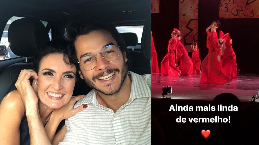 Fátima Bernardes e Tulio Gadelha neste domingo (10) - Reprodução/Instagram