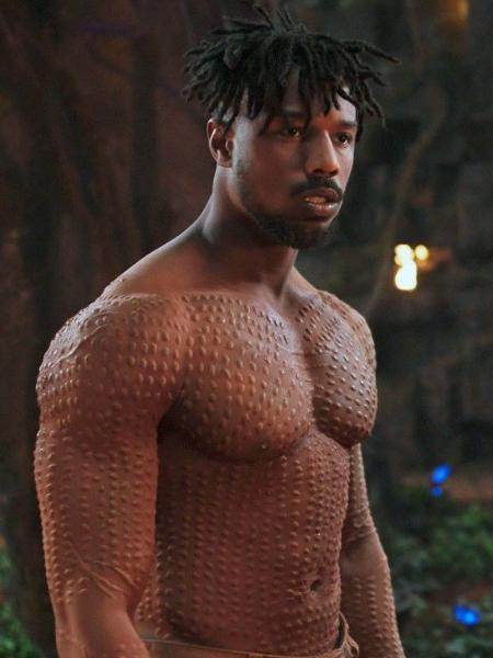 "Michael B. Jordan em ""Pantera Negra"" - Reprodução"