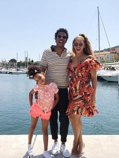 Blue Ivy, Jay-Z e Beyoncé - Reprodução/Instagram