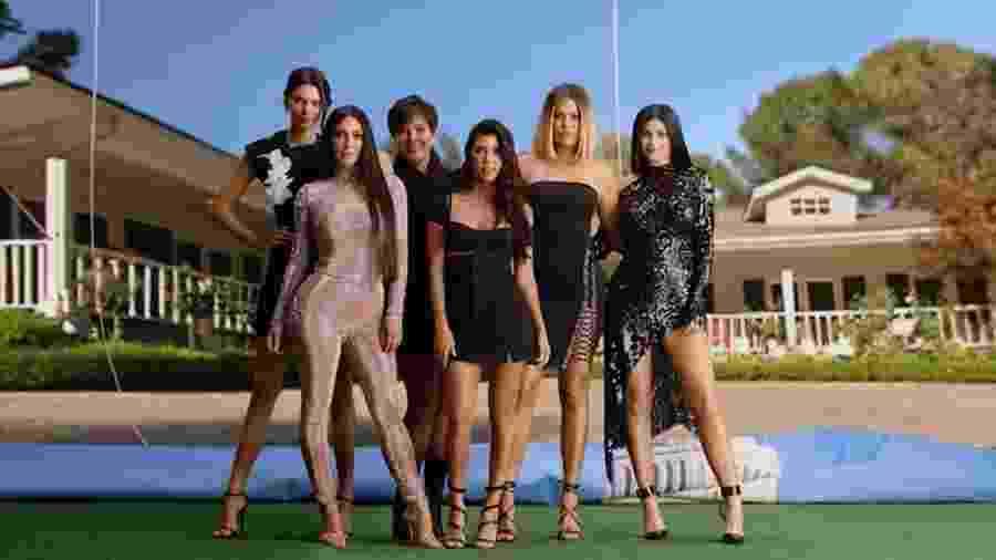 """Família Kardashian no reality show """"Keeping Up With The Kardashians"""", do canal E! - Reprodução/E!"""