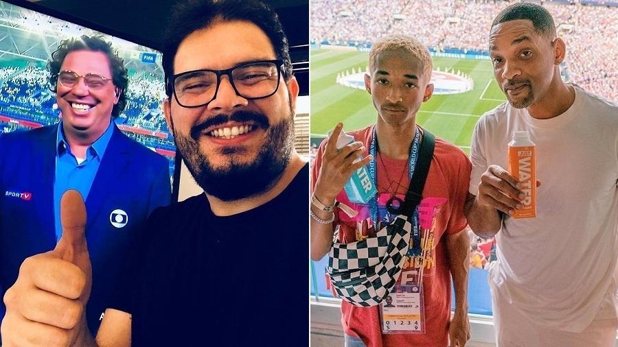 Rodrigo Fernandes, que tirou sarro do vício de Casagrande, foi acusado de racismo por comparar filho de Will Smith a um flanelinha - Montagem/UOL/Reprodução/Instagram/jbanguela/willsmith
