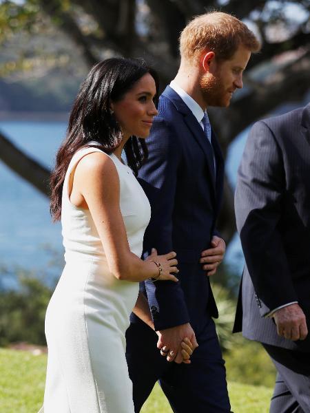 Meghan Markle aparece com visível barriguinha em visita à Austrália - Getty Images