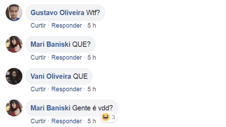 Comentários - Reprodução/Facebook - Reprodução/Facebook