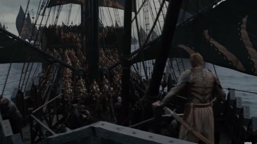 """Euron  em trailer da oitava temporada de """"Game of Thrones"""" - Reprodução/YouTube"""
