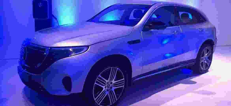 EQC é o primeiro carro 100% elétrico da marca alemã - Alessandro Reis/UOL
