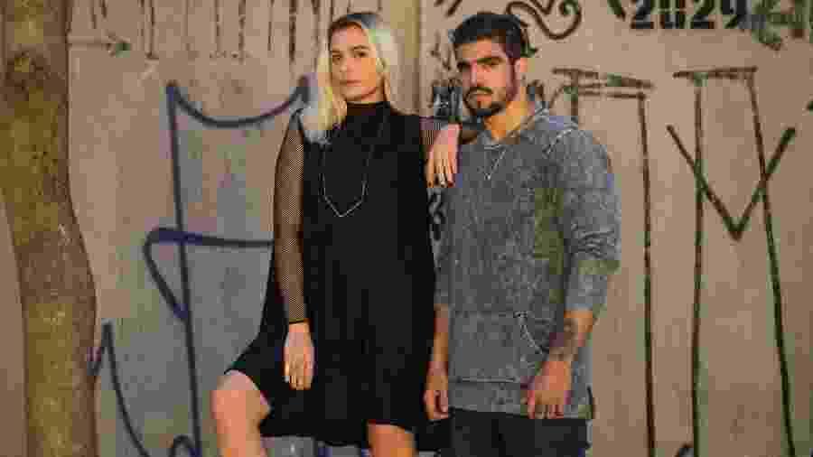 Kim (Monica Iozzi) e Rock (Caio Castro) em A Dona do Pedaço - Estevam Avellar/TV Globo