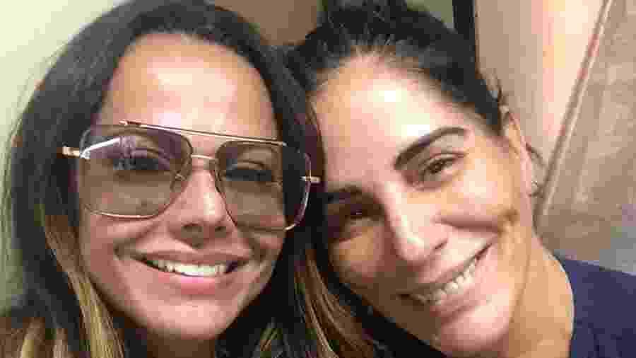 Viviane Araújo com a ídola, Gloria Pires - Reprodução/ Instagram