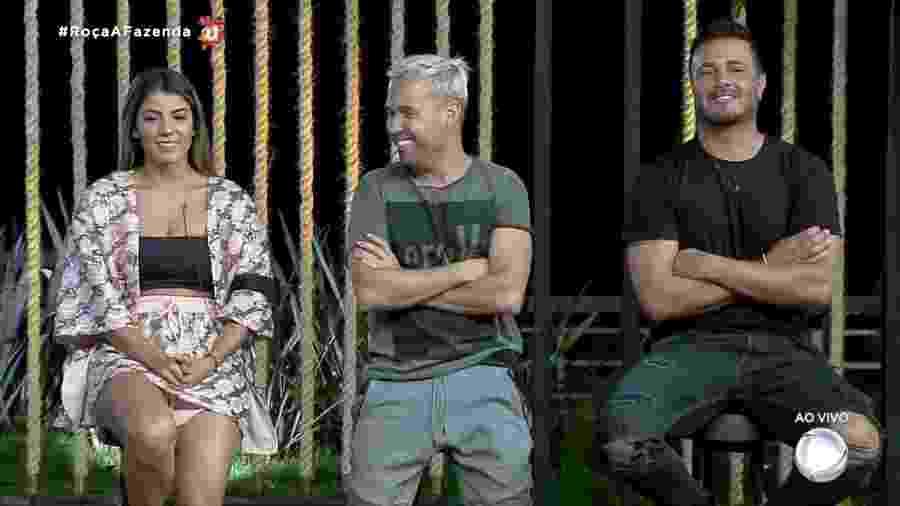 Hariany, Phavanello e Viny disputam 11ª roça em A Fazenda 2019 - Reprodução/RecordTV