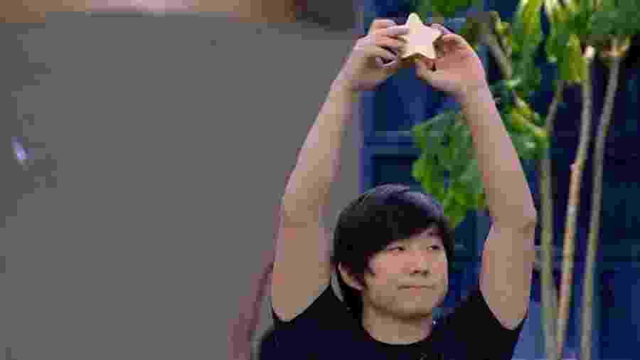 Pyong vence prova Bate e Volta e está fora do paredão - Reprodução/TV Globo