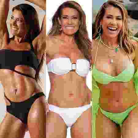 Solange Frazão mostrando seu corpo aos 37, 47 e 57 anos. - Reprodução / Instagram