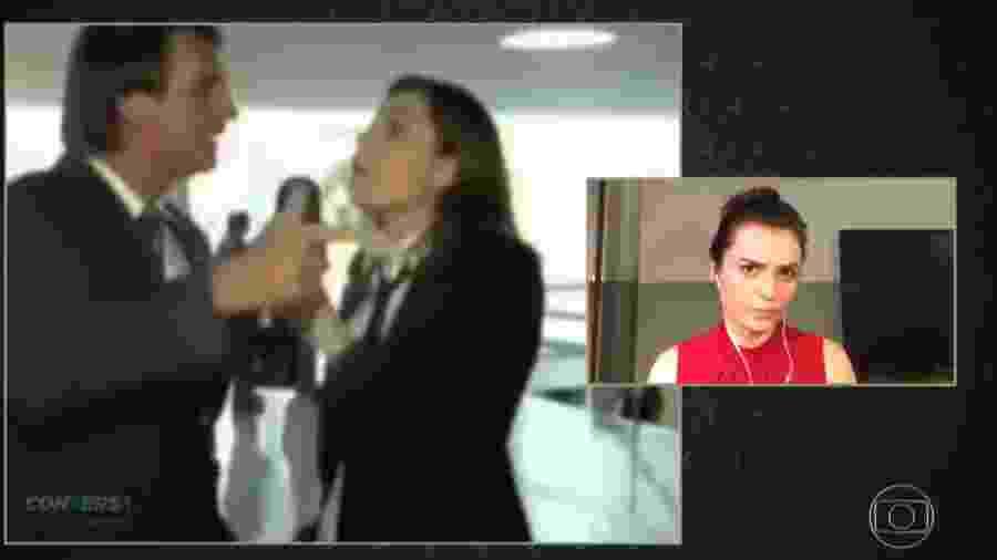 """Durante o """"Conversa com Bial"""", Monica Iozzi revê uma entrevista que fez no """"CQC"""" com o então deputado Jair Bolsonaro - Reprodução"""