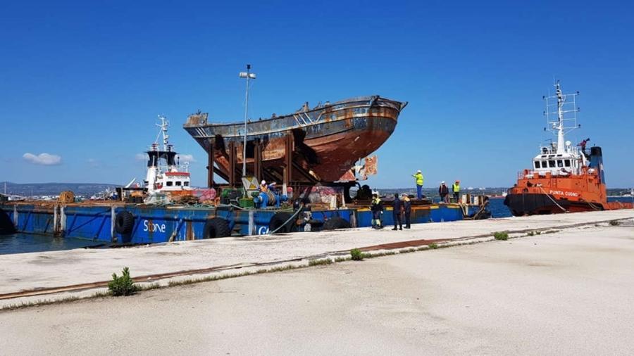 Barco que naufragou com mais de 700 migrantes em 2018 - ANSA/Alessandro Ricupero