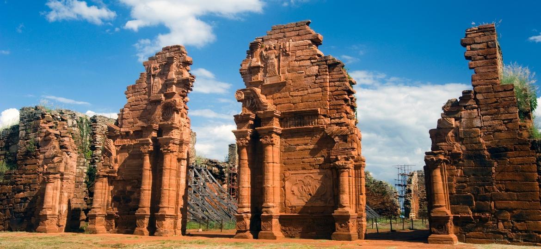 Ruínas da missão jesuítica de San Ignacio, na província de Misiones, no Norte da Argentina - Getty Images