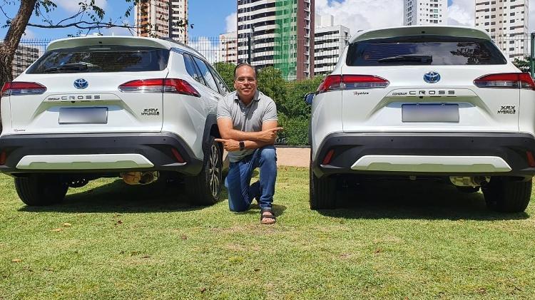 Marmita Corolla Cross Jorge Moraes com e sem adaptação - Reprodução - Reprodução