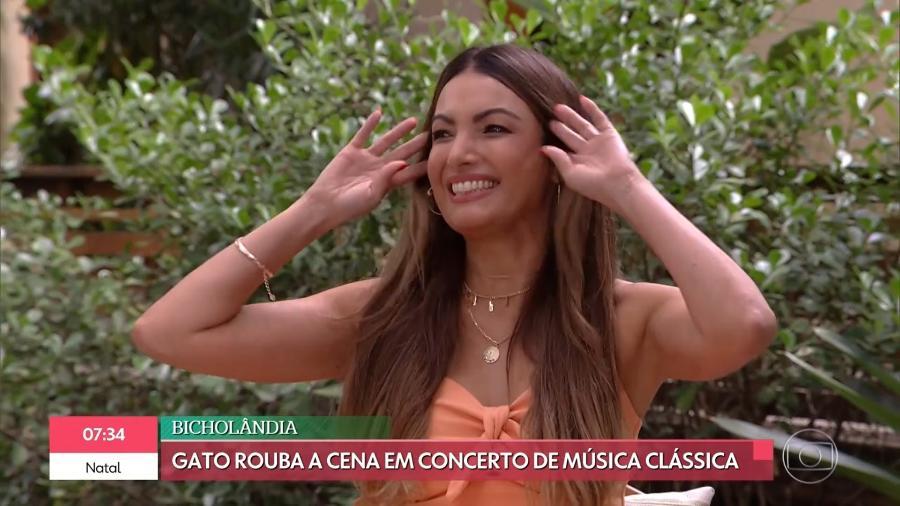 """Patrícia Poeta celebra volta ao """"É de Casa"""" após cirurgia - Reprodução/Globoplay"""