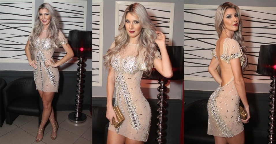 """20.jun.2015 - A ex-BBB Tatiele Polyana surpreendeu ao usar um vestido transparente no coquetel de lançamento  de seu ensaio sensual para a revista """"Colírio Girl"""", em uma boate na zona sul do Rio de Janeiro, na noite desta sexta-feira"""