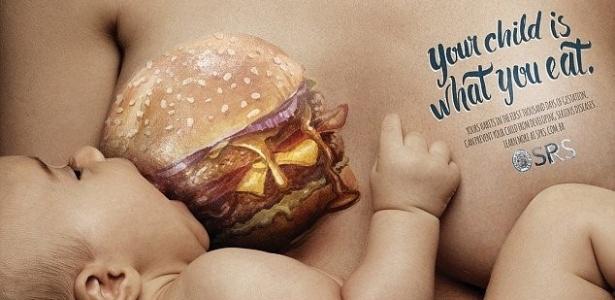 Campanha da Sociedade de Pediatria do RS alerta sobre hábitos alimentares da gestante - Reprodução/Daily Mail