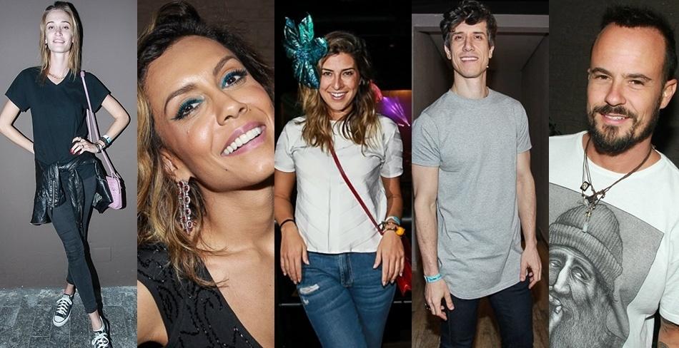 23.jan.2015 -  A modelo Vivi Orth, a ex-BBB Lia Khey, os atores Fernanda Paes Leme, Teodoro Cochrane e Paulo Vilhena foram ao show de Preta na noite de sexta, em São Paulo