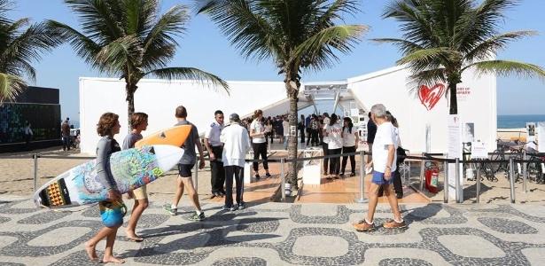Pavilhão da Dinamarca para os Jogos Rio 2016, na praia de Ipanema - Reprodução/Facebook