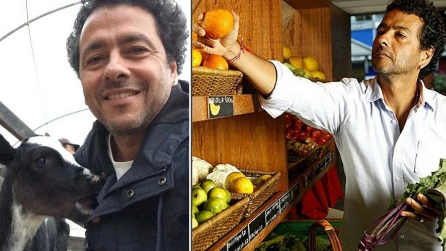 26.ago.2016- Marcos Palmeira em dois momentos: Em sua fazenda Vale das Palmeiras e no seu armazém de produtos orgânicos - Reprodução/Instagram