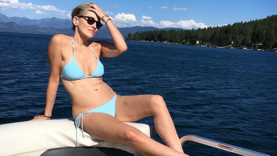 Sharon Stone posa de biquíni e publica foto no Instagram - Reprodução/Instagram/sharonstone