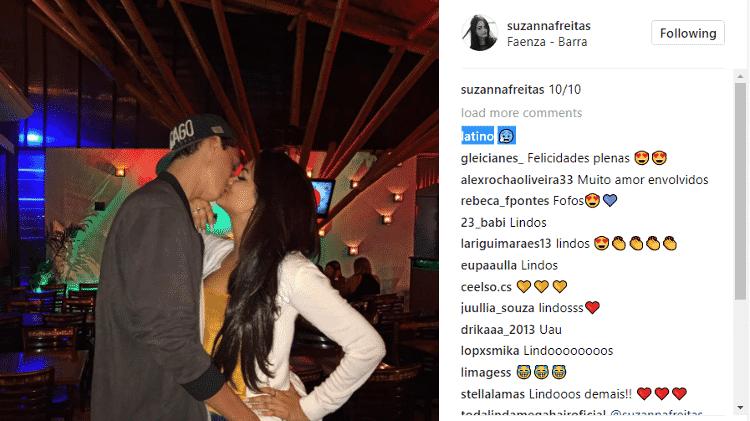 Latino comenta foto de beijo da filha com o namorado - Reprodução/Instagram - Reprodução/Instagram