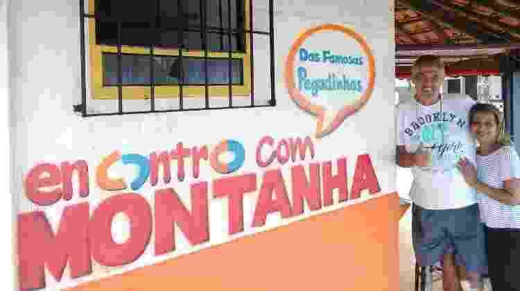 Quiosque do ator de pegadinhas Montanha em praia de Mongaguá, litoral de São Paulo - Montanha/Arquivo pessoal - Montanha/Arquivo pessoal