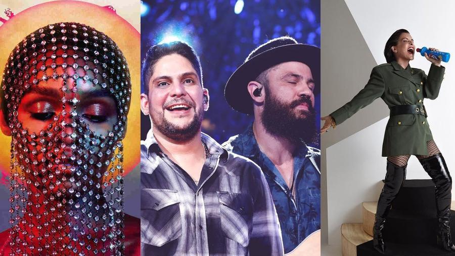 Janelle Monáe, Jorge & Mateus e Marina Lima lançaram novas músicas essa semana - Divulgação