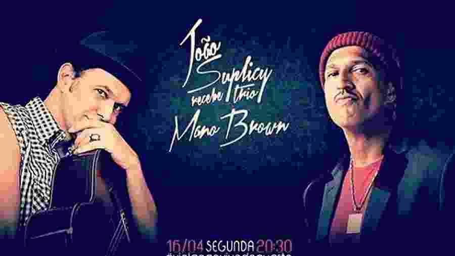 """João Suplicy recebe Mano Brown no programa """"João Ao Vivo do Quarto"""" desta segunda (16) - Divulgação"""