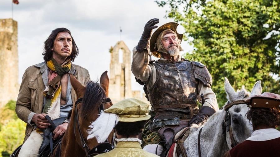 """Adam Driver e Jonathan Price em cena do filme """"The Man Who Killed Don Quixote"""" - Divulgação"""