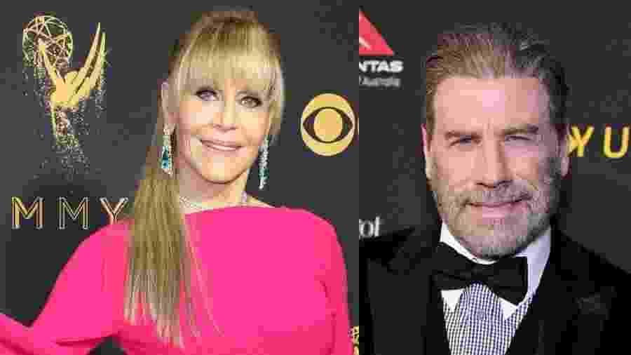 Jane Fonda e John Travolta - Getty Images/Montagem