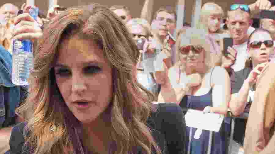 A cantora Lisa Marie Presley em Memphis, Tennessee - Caroline Groussain/AFP