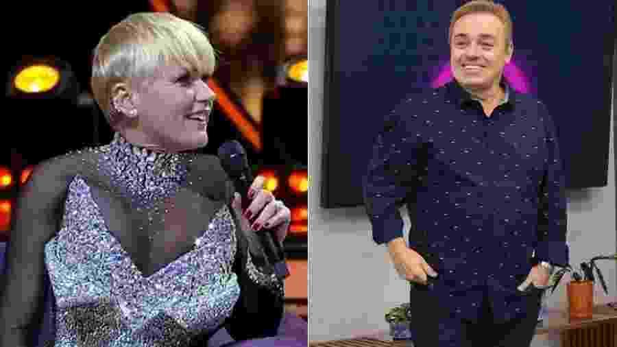 Colegas de emissora, os apresentadores Xuxa e Gugu estão em paz novamente - Montagem UOL