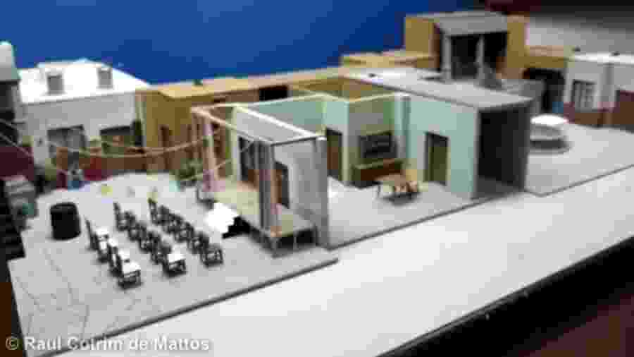 Maquete da vila do Chaves - Reprodução/Raul Cotrim de Mattos