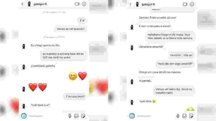 Gabigol troca mensagens com Mariana Braguês - Reprodução/Instagram