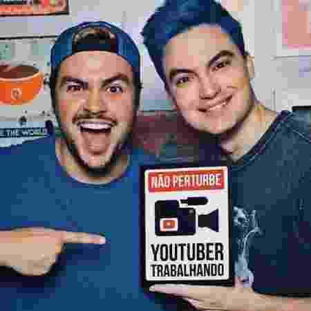 Os populares irmãos youtubers Luccas e Felipe Neto - Reprodução/Instagram