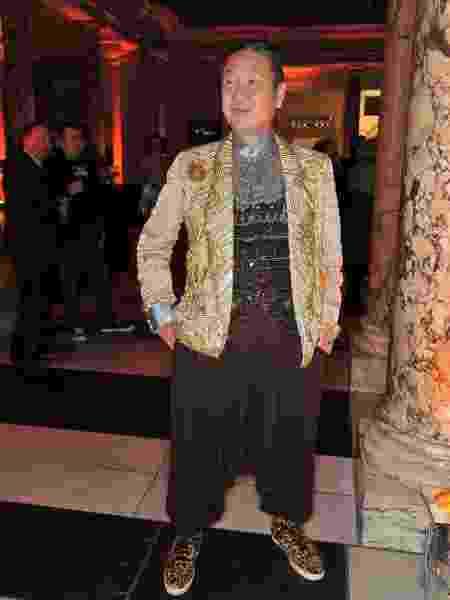 O estilista Kansai Yamamoto, famoso por colaboração com David Bowie - Nick Harvey/WireImage/Getty Images