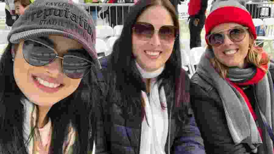 Rafaela Blacutt com a irmã e a mãe no show da Taylor Swift nos Estados Unidos - Arquivo Pessoal