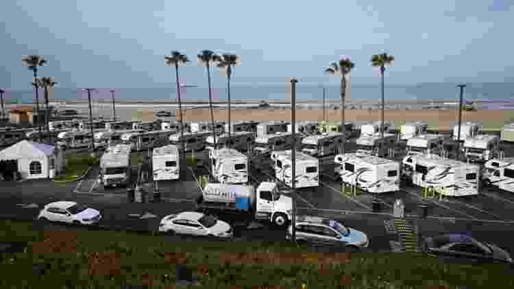 Veículos recreativos são usados para viagens de férias, mas também podem servir de residências permanentes - Getty Images - Getty Images
