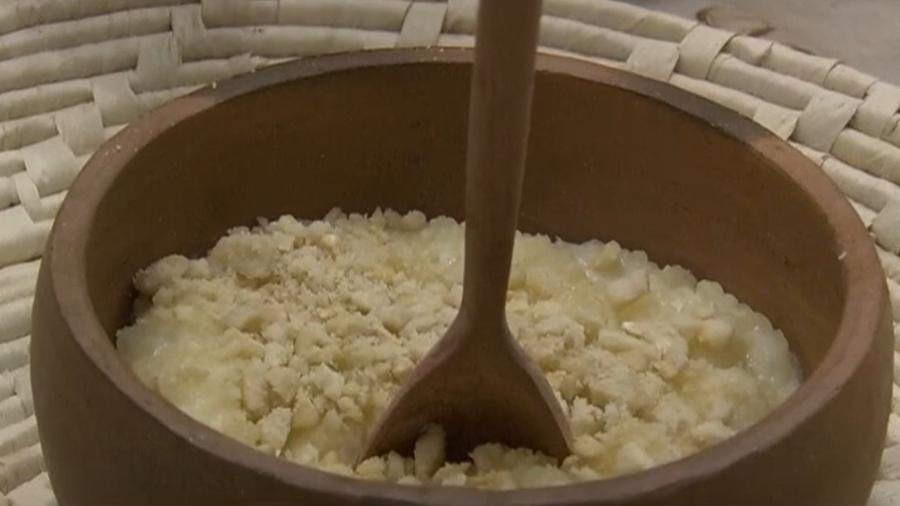 Forrado de tapioca feito por Ana Maria Braga - Reprodução/TV Globo