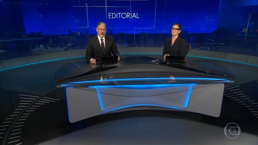Em editorial lido no Jornal Nacional, a emissora criticou Jair Bolsonaro - Reprodução/Globoplay