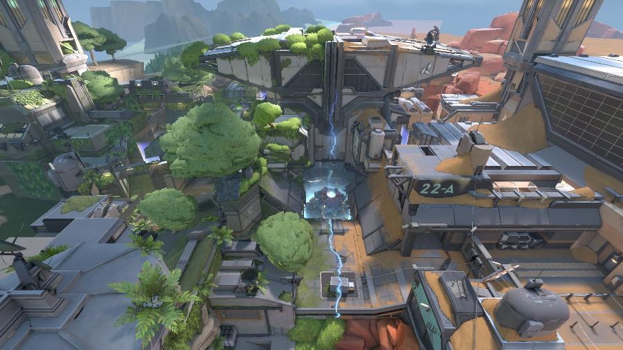 O novo mapa de Valorant tem dois biomas em pontos opostos - Divulgação/Riot Games