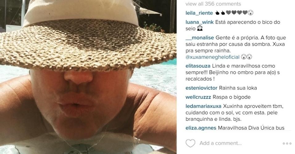 22.dez.2015 - Xuxa mostra demais em foto