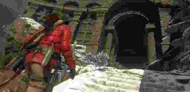 """Segundo jogo após o reinício da franquia, """"Rise of the Tomb Raider"""" mostra uma Lara mais madura e mortal - Divulgação"""