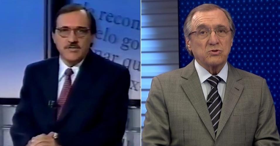 """Comentarista do """"Jornal da Globo"""", Carlos Alberto Sardenberg já fez parte do """"Aqui Agora"""" e também falava de economia; antes dele, quem """"explicava"""" juros e inflação no telejornal do SBT era o pugilista Maguila"""