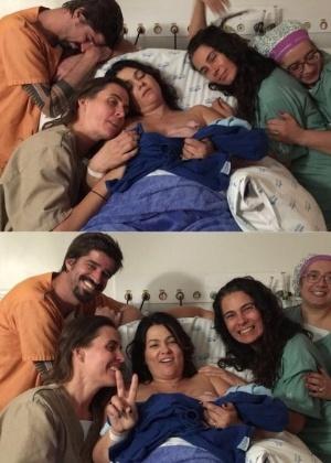 Suzana Alves comemora o nascimento do primeiro filho, Benjamin. Na foto, ela aparece na maternidade após dar à luz - Reprodução/Instagram/suzanaalvesoficial