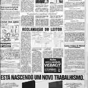 """Página do """"Notícias Populares"""" com foto feita por Zingg durante sua passagem pelo jornal, em 1986 - Divulgação"""