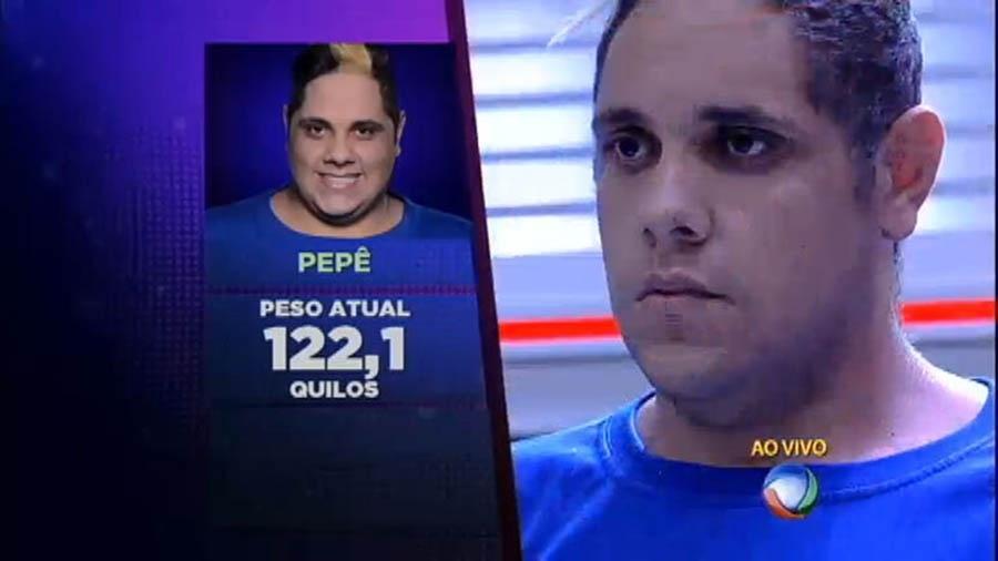"""Pedro Paulo, o Pepê, durante participação no reality show """"Além do Peso""""  - Reprodução/Record"""