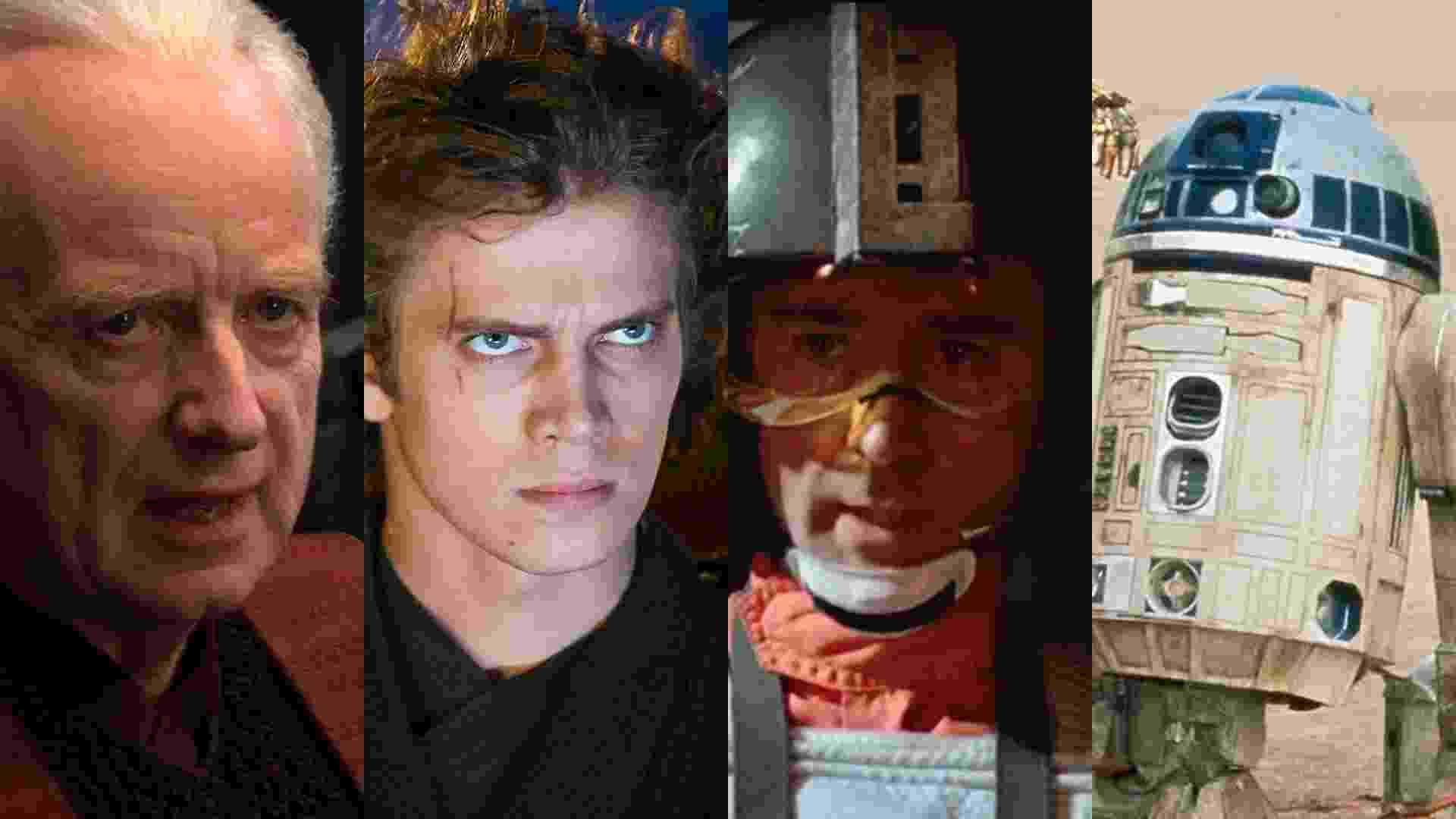 """Cenas de """"Star Wars: Episódio III - A Vingança dos Sith"""" (2005) e """"Guerra nas Estrelas"""" (1977) - Reprodução/Montagem"""